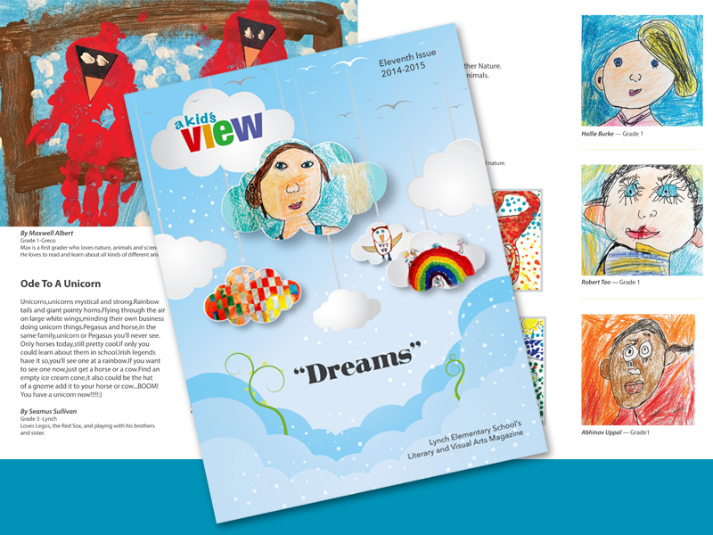 We helped design and layout this fun art & literary magazine featuring over 200 works of art by elementary school children.