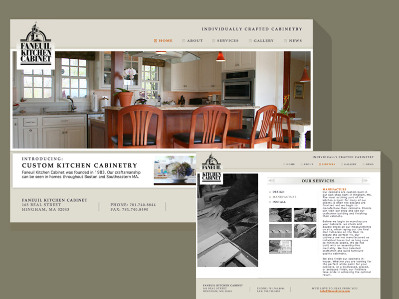 We redesigned this custom millwork company's website to feature their stellar client gallery.