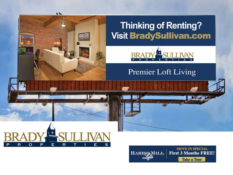 Brady Sullivan hired us to design their spring ad campaign for new lofts in Rhode Island.