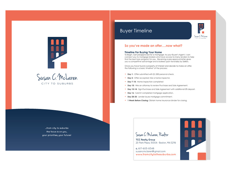 From Logo to Marketing Packet, we designed it all for this real estate team.