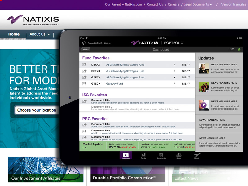 We redesigned this high-profile sales app for Natixis's portfolio managers.